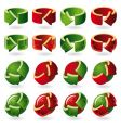 set of round arrow icons vector image vector image