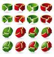 set of round arrow icons vector image