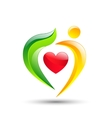 person loving trees nature eco concept vector image