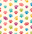 Seamless Texture with Traces of Cats Dogs Imprints vector image