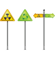 nuclear sign vector image vector image
