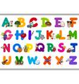 cartoon alphabet for children vector image