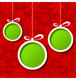 Red Christmas balls abstract background vector image