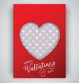 valentines day heart background 1301 vector image