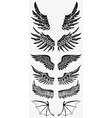 wings gold emblems template vector image
