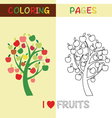 Coloring Pages Outline Apple tree for kids vector image