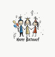 birthday party postcard for your design vector image