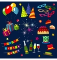 Celebration happy birthday party carnival vector image
