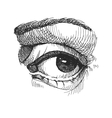 Eye Realistic Hand drawn vector image