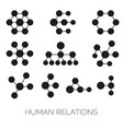 human relations simple charts hierarchy vector image