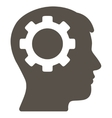 Intellect Flat Icon vector image