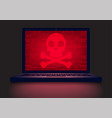 laptop in the dark vector image