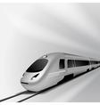 Modern high speed train 2 vector image