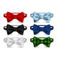 realistic bow tie vector image