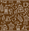 seamless pattern sketch coffee vector image