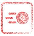 send cardano framed stamp vector image