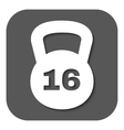 The dumbbell icon Weight symbol Flat vector image