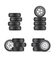 set of tires for cars vector image vector image