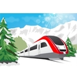 high speed train vector image