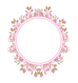 Floral vintage frame Wedding rings vector image