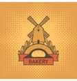 emblems for the bakery with a mill vector image