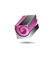 Solid Block Logo Icon Template vector image vector image