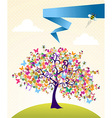 Abstract spring tree landscape vector image