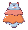baby dress icon cartoon style vector image