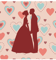 Bride and Groom Silhouette - vector image