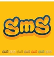 Flat design sms message vector image
