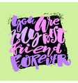 Friendship day lettering motivation poster vector image