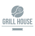 grill chicken logo simple gray style vector image