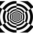 optical art infinity tunnel vector image