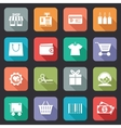 Set of colorful purchase icons in flat style vector image