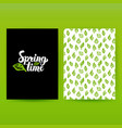 spring time green poster vector image
