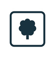 tree icon Rounded squares button vector image