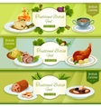 British cuisine banner for restaurant menu design vector image