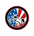 american Soap box derby car with stars and stripes vector image