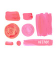 set of cosmetic stains texture of acrylic paint vector image