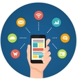 Smartphone apps infographics vector image