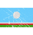 Flag of Sakha Yakutia Republic Russia with old vector image