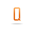Letter Q orange logo graphic design symbol vector image