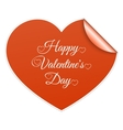 Red heart Valentines day card with sign vector image