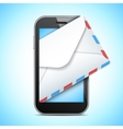 Mobile Phone and Letter vector image vector image
