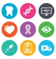 Medicine healthcare and diagnosis icons vector image