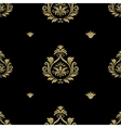 Seamless abstract black and gold classic pattern vector image