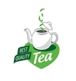 logo tea vector image