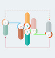 infographics diagrams steps colorful vector image