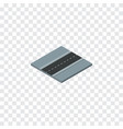isolated road isometric path element can vector image