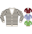 stripe sweatshirt template vector image